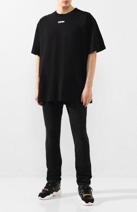 Мужская хлопковая футболка OFF-WHITE черного цвета, арт. 0MAA038S201850031088 | Фото 2
