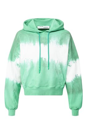 Мужской хлопковое худи OFF-WHITE зеленого цвета, арт. 0MBB058S20E300254401 | Фото 1
