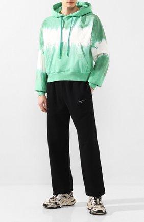 Мужской хлопковое худи OFF-WHITE зеленого цвета, арт. 0MBB058S20E300254401 | Фото 2