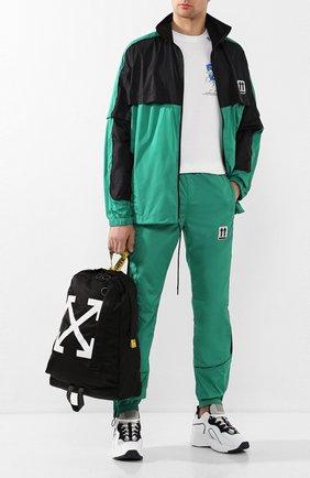 Мужской джоггеры OFF-WHITE зеленого цвета, арт. 0MCA123S20A230204400 | Фото 2