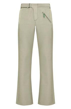 Мужской брюки OFF-WHITE светло-зеленого цвета, арт. 0MCA125S20H770204600 | Фото 1