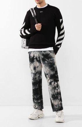 Мужской хлопковый свитер OFF-WHITE черного цвета, арт. 0MHE023S20G730221006 | Фото 2