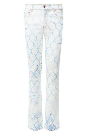Мужские джинсы OFF-WHITE голубого цвета, арт. 0MYA059S20H410307131 | Фото 1