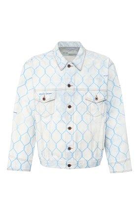 Мужская джинсовая куртка OFF-WHITE голубого цвета, арт. 0MYE051S203860307131 | Фото 1