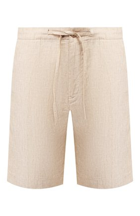 Мужские льняные шорты LORO PIANA бежевого цвета, арт. FAI5747 | Фото 1