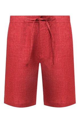 Мужские льняные шорты LORO PIANA красного цвета, арт. FAI5747 | Фото 1