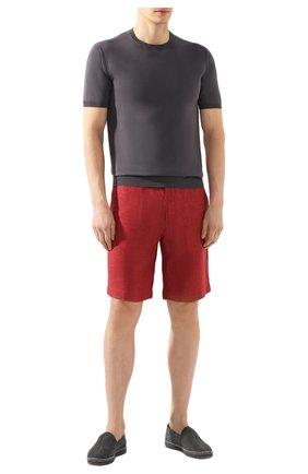 Мужские льняные шорты LORO PIANA красного цвета, арт. FAI5747 | Фото 2