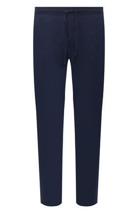 Мужские домашние брюки из вискозы HANRO темно-синего цвета, арт. 075040 | Фото 1 (Материал внешний: Вискоза; Кросс-КТ: домашняя одежда; Длина (брюки, джинсы): Стандартные; Мужское Кросс-КТ: Брюки-белье)