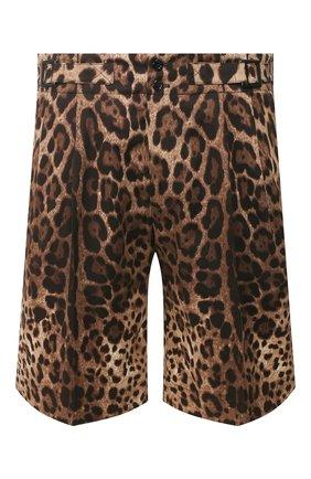 Мужские хлопковые шорты DOLCE & GABBANA коричневого цвета, арт. GW8UHT/FSFAG | Фото 1