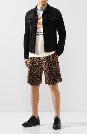 Мужские хлопковые шорты DOLCE & GABBANA коричневого цвета, арт. GW8UHT/FSFAG | Фото 2
