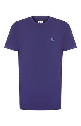Мужская хлопковая футболка C.P. COMPANY фиолетового цвета, арт. 08CMTS291A-005100W | Фото 1