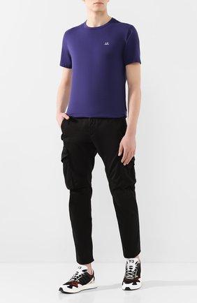 Мужская хлопковая футболка C.P. COMPANY фиолетового цвета, арт. 08CMTS291A-005100W | Фото 2
