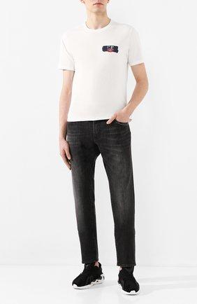 Мужская хлопковая футболка C.P. COMPANY белого цвета, арт. 08CMTS145A-005100W | Фото 2