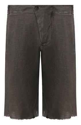 Мужские льняные шорты MASNADA серого цвета, арт. M2462 | Фото 1