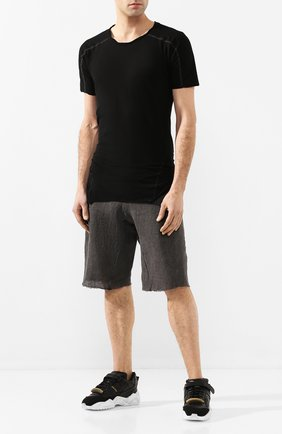 Мужские льняные шорты MASNADA серого цвета, арт. M2462 | Фото 2