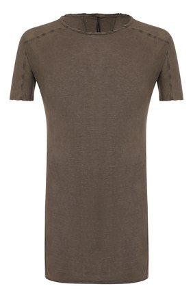 Мужская хлопковая футболка MASNADA коричневого цвета, арт. M2452 | Фото 1
