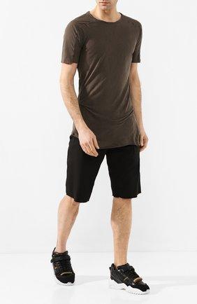Мужская хлопковая футболка MASNADA коричневого цвета, арт. M2452 | Фото 2