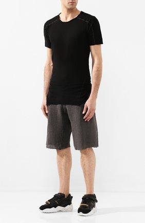 Мужская хлопковая футболка MASNADA черного цвета, арт. M2452 | Фото 2