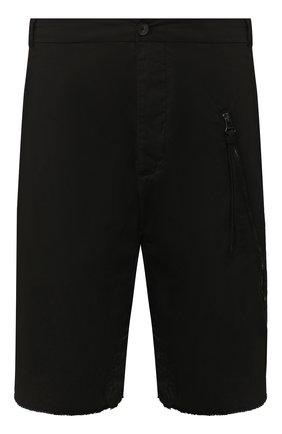 Мужские хлопковые шорты MASNADA черного цвета, арт. M2435 | Фото 1