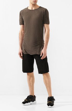 Мужские хлопковые шорты MASNADA черного цвета, арт. M2435 | Фото 2