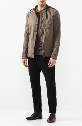Мужская хлопковая рубашка MASNADA коричневого цвета, арт. M2430 | Фото 2