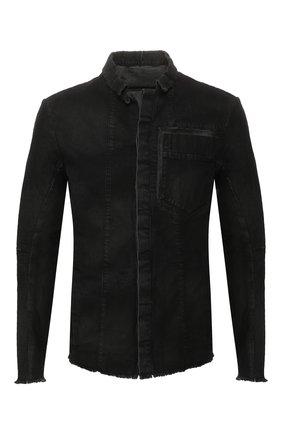 Мужская джинсовая куртка MASNADA черного цвета, арт. M2425 | Фото 1