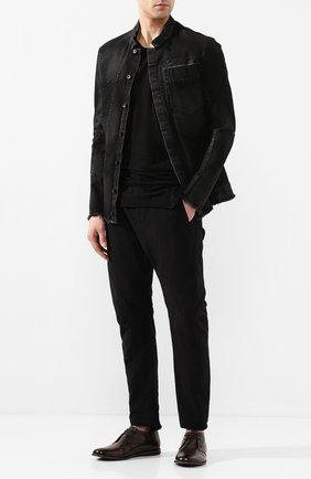 Мужская джинсовая куртка MASNADA черного цвета, арт. M2425 | Фото 2