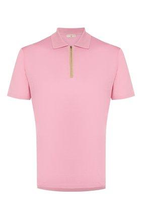 Мужское хлопковое поло LUCIANO BARBERA розового цвета, арт. 119542/81171 | Фото 1