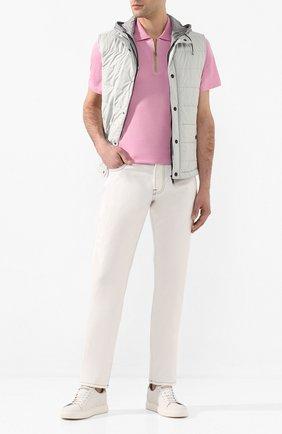 Мужское хлопковое поло LUCIANO BARBERA розового цвета, арт. 119542/81171 | Фото 2