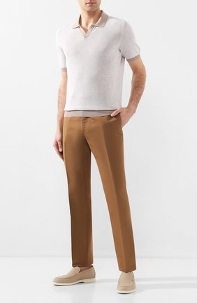 Мужское хлопковое поло GRAN SASSO бежевого цвета, арт. 57155/26901 | Фото 2