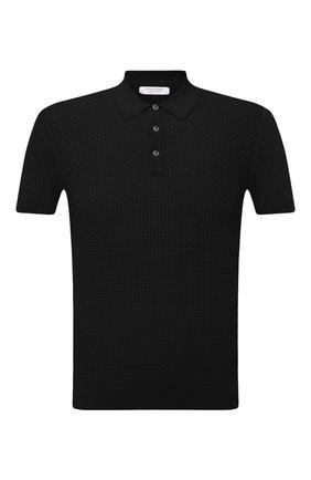 Мужское хлопковое поло GRAN SASSO черного цвета, арт. 57126/20635   Фото 1
