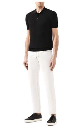 Мужское хлопковое поло GRAN SASSO черного цвета, арт. 57126/20635   Фото 2