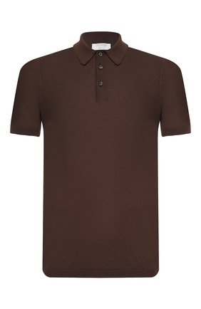 Мужское хлопковое поло GRAN SASSO коричневого цвета, арт. 43156/20731   Фото 1