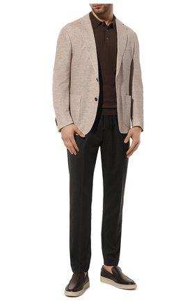 Мужское хлопковое поло GRAN SASSO коричневого цвета, арт. 43156/20731   Фото 2