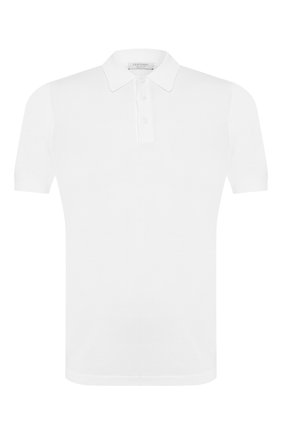 Мужское хлопковое поло GRAN SASSO белого цвета, арт. 43156/20731 | Фото 1