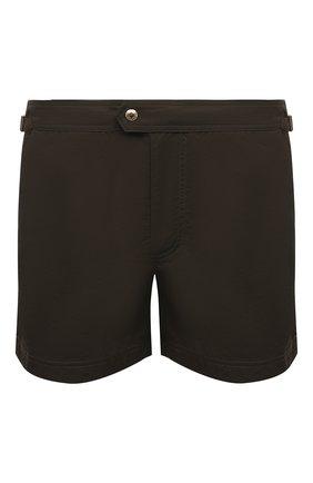 Мужские плавки-шорты TOM FORD хаки цвета, арт. BU666/TFB450 | Фото 1