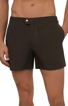 Мужские плавки-шорты TOM FORD хаки цвета, арт. BU666/TFB450 | Фото 2