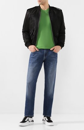 Мужской хлопковый джемпер ALTEA зеленого цвета, арт. 2051010   Фото 2