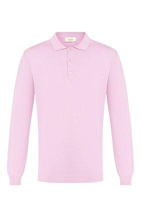 Мужское поло из смеси шелка и хлопка ALTEA розового цвета, арт. 2051009 | Фото 1
