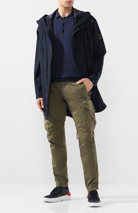 Мужское поло из смеси шелка и хлопка ALTEA темно-синего цвета, арт. 2051009 | Фото 2