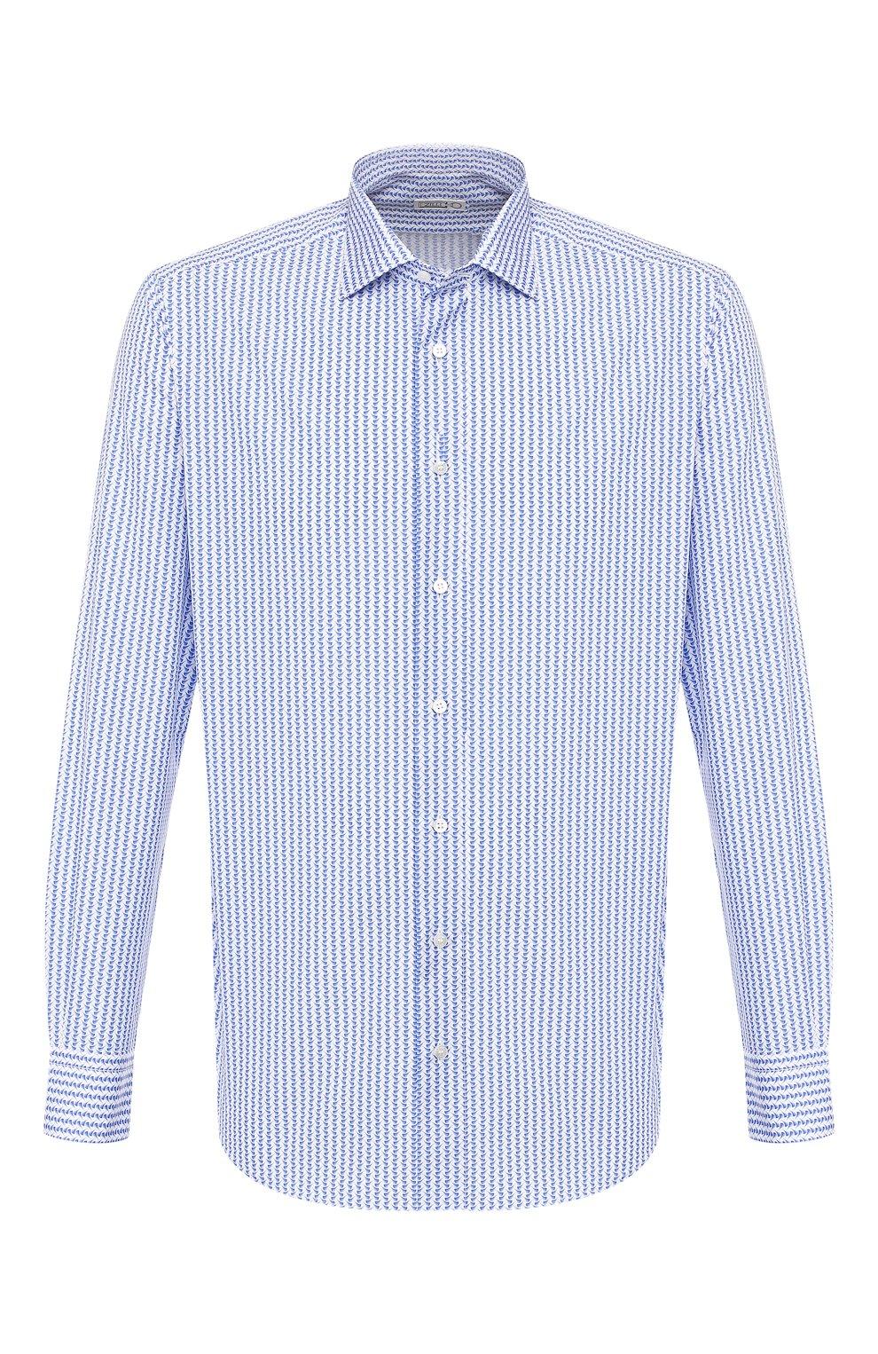 Мужская хлопковая сорочка ZILLI голубого цвета, арт. MFT-00402-03250/RZ02 | Фото 1