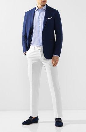 Мужская хлопковая сорочка ZILLI голубого цвета, арт. MFT-00402-03250/RZ02 | Фото 2