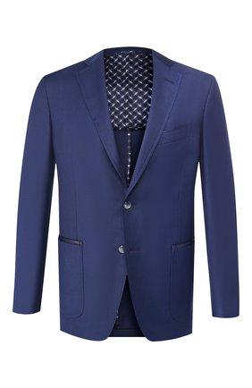 Мужской пиджак из смеси шерсти и шелка ZILLI синего цвета, арт. MNT-ECX3-1-C6064/M600 | Фото 1