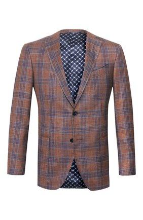 Мужской пиджак из смеси шерсти и шелка ZILLI светло-коричневого цвета, арт. MNT-VG2F-2-C6211/M001 | Фото 1