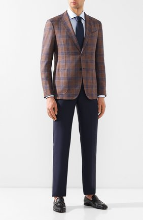 Мужской пиджак из смеси шерсти и шелка ZILLI светло-коричневого цвета, арт. MNT-VG2F-2-C6211/M001 | Фото 2