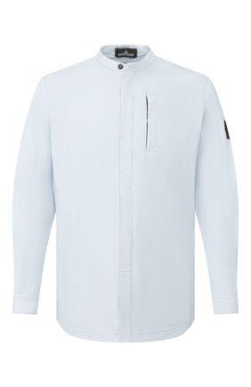Мужская хлопковая рубашка STONE ISLAND SHADOW PROJECT голубого цвета, арт. 721910206 | Фото 1