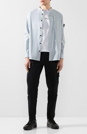 Мужская хлопковая рубашка STONE ISLAND SHADOW PROJECT голубого цвета, арт. 721910206 | Фото 2