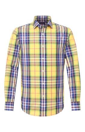 Мужская хлопковая рубашка RALPH LAUREN разноцветного цвета, арт. 790793938 | Фото 1