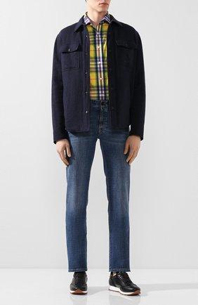 Мужская хлопковая рубашка RALPH LAUREN разноцветного цвета, арт. 790793938 | Фото 2