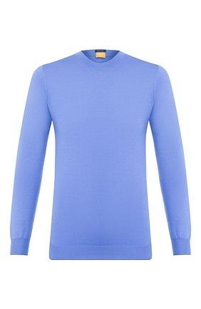 Мужской хлопковый джемпер SVEVO голубого цвета, арт. 4621/1SE20/MP46   Фото 1